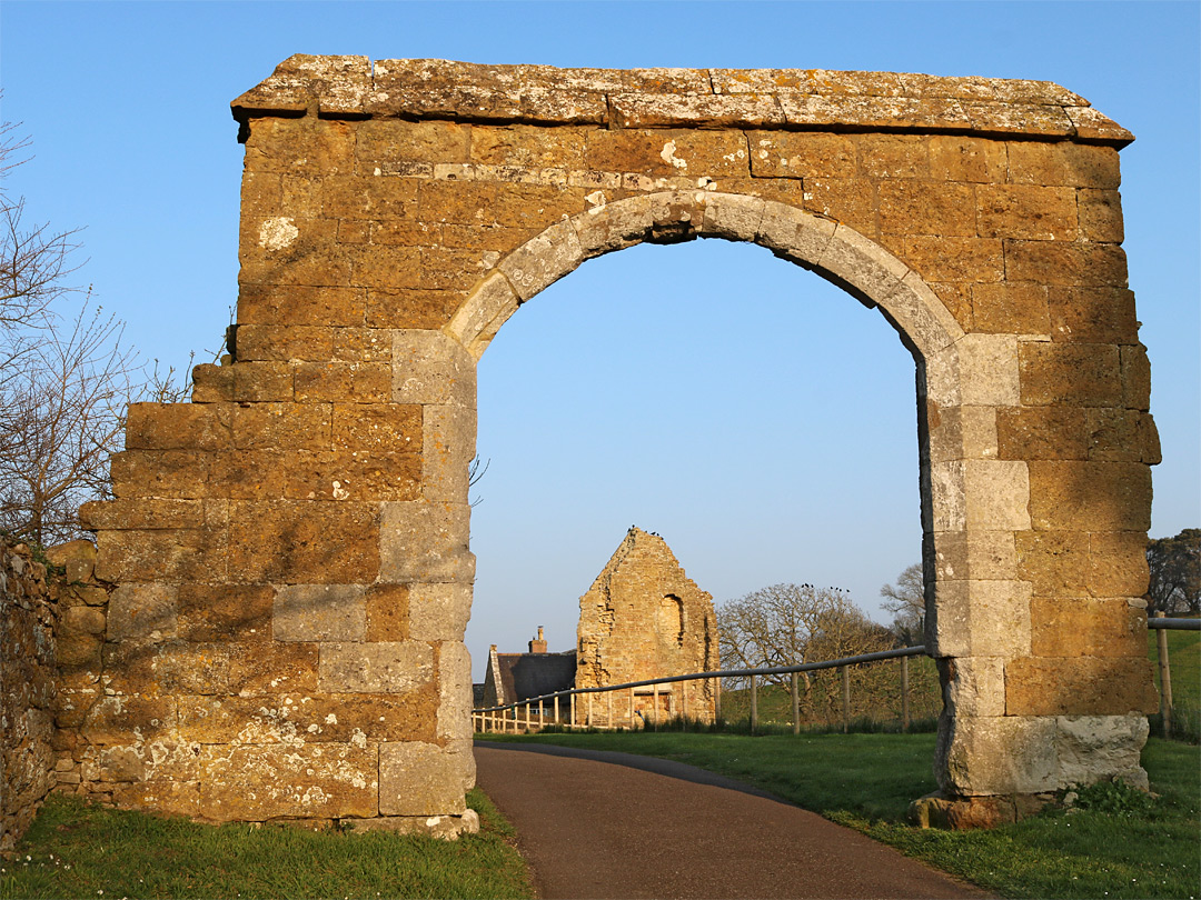 Arch beside the church