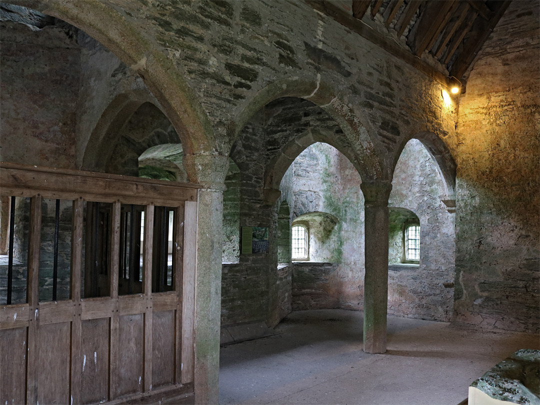 Inside the gatehouse
