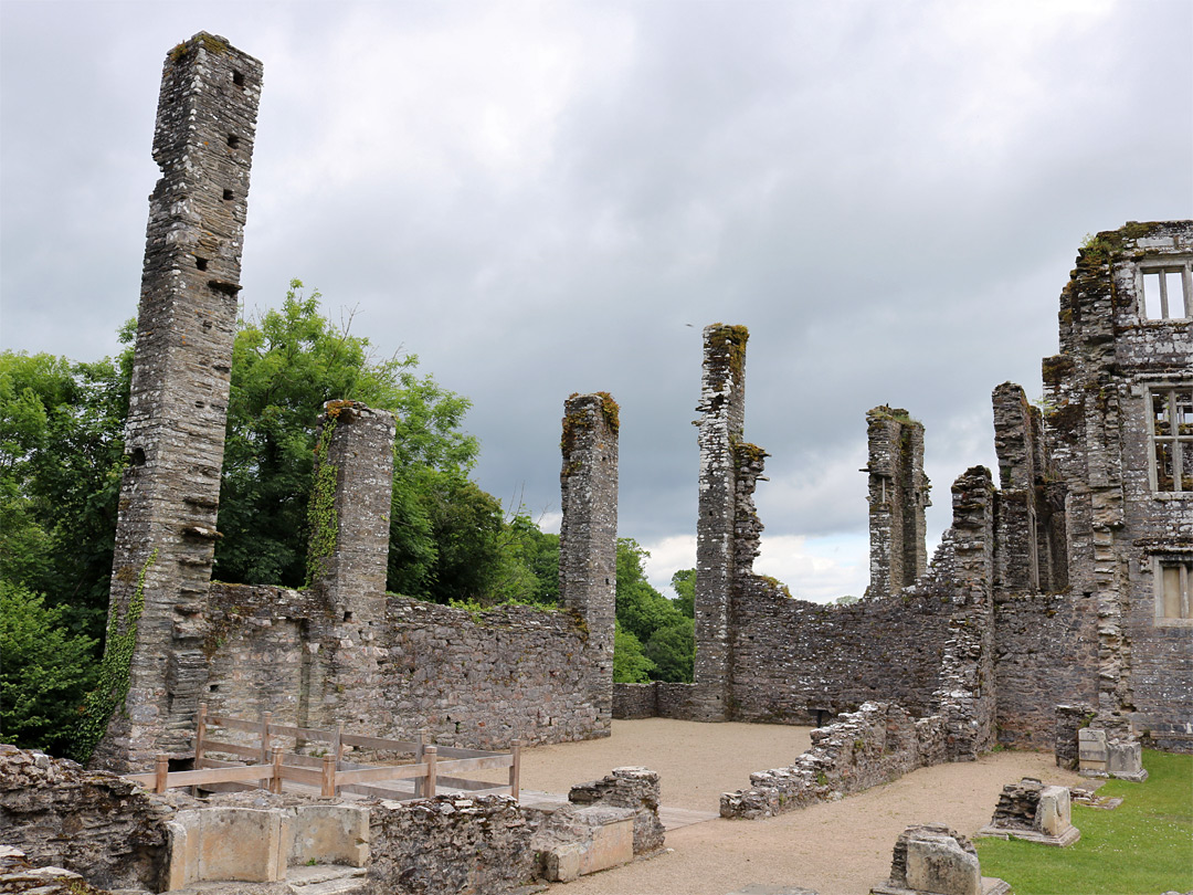 Ruins of the great hall