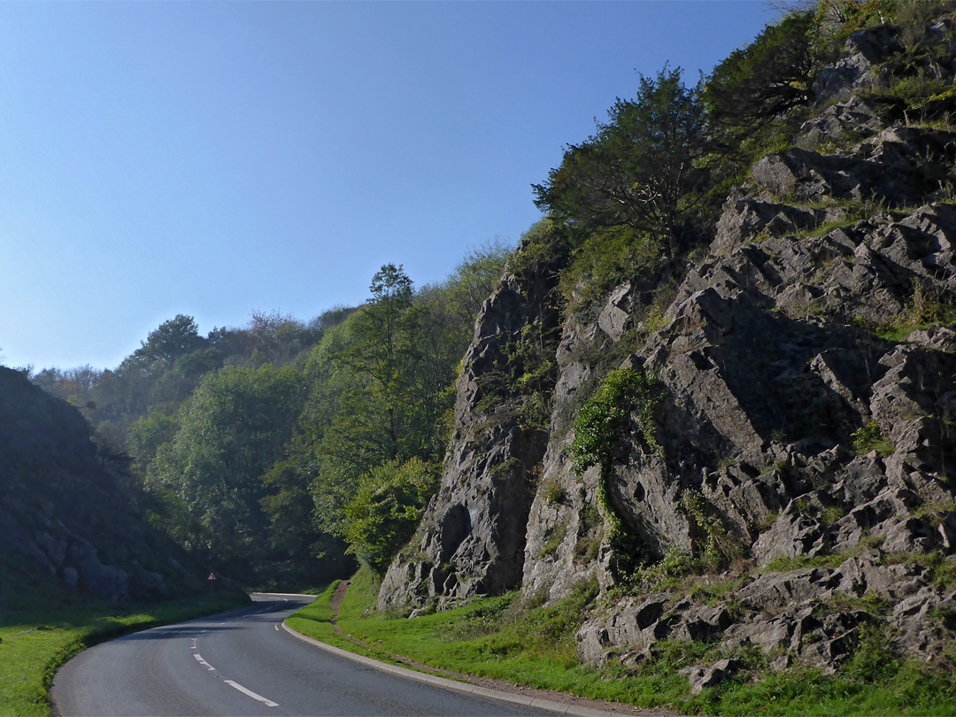 Road through the combe
