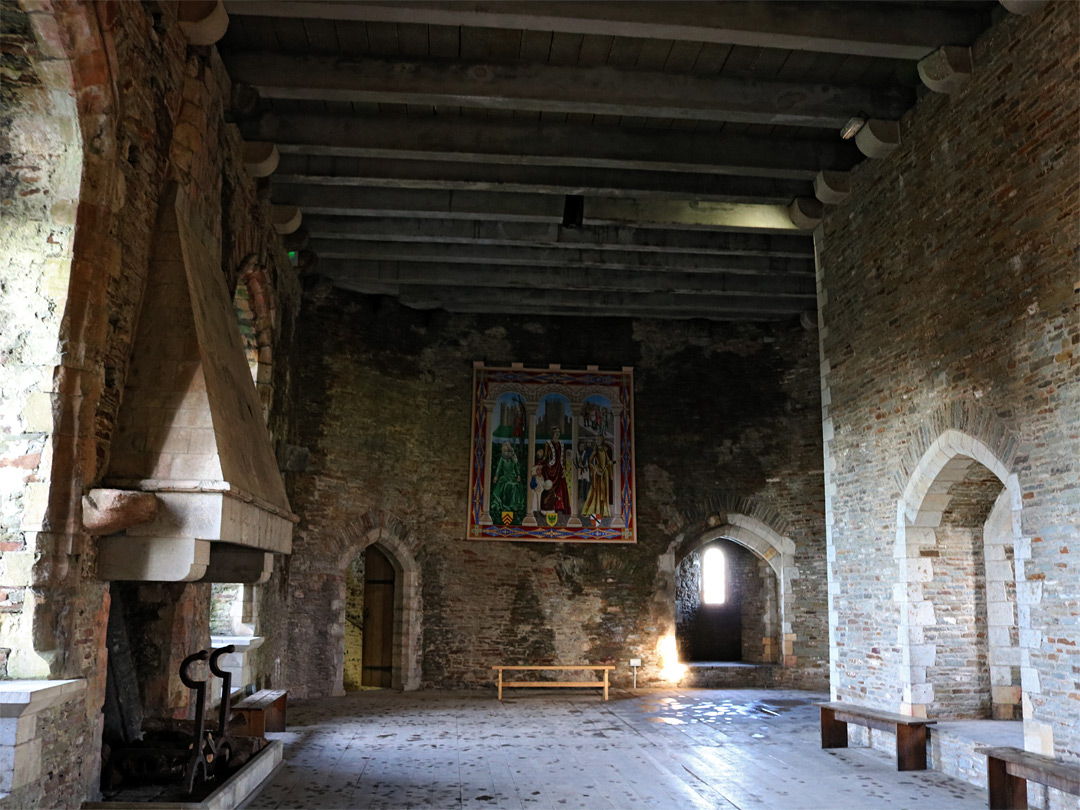 Hall in the gatehouse