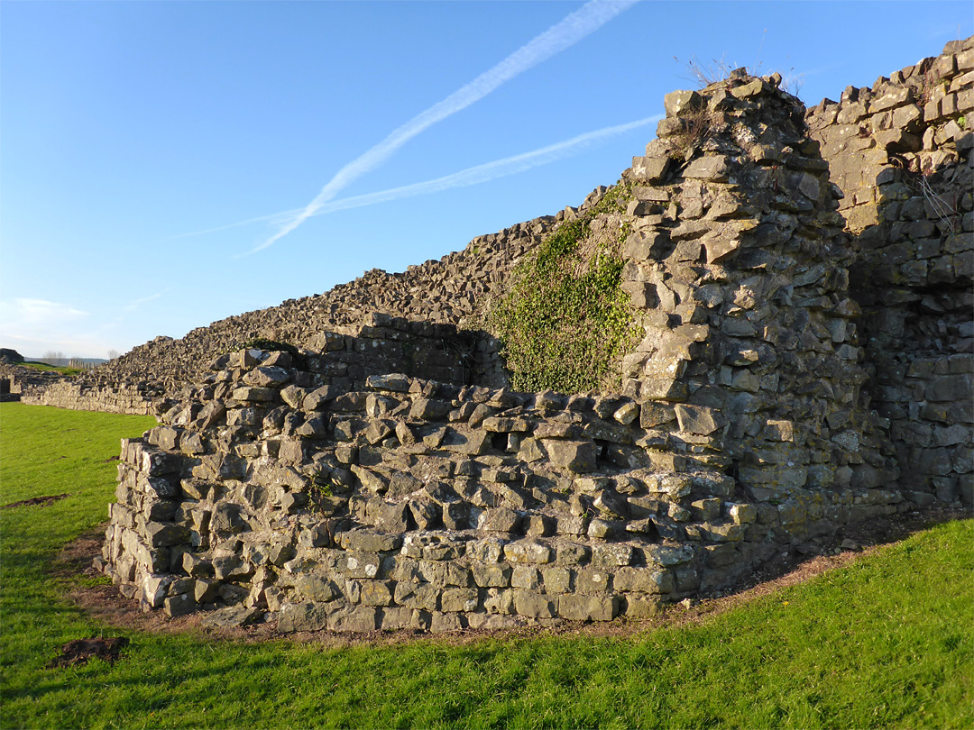 Tower and wall - west