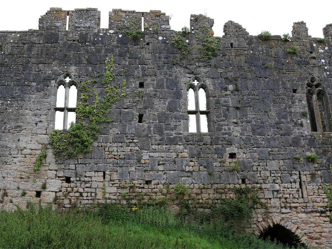 Windows in the south wall