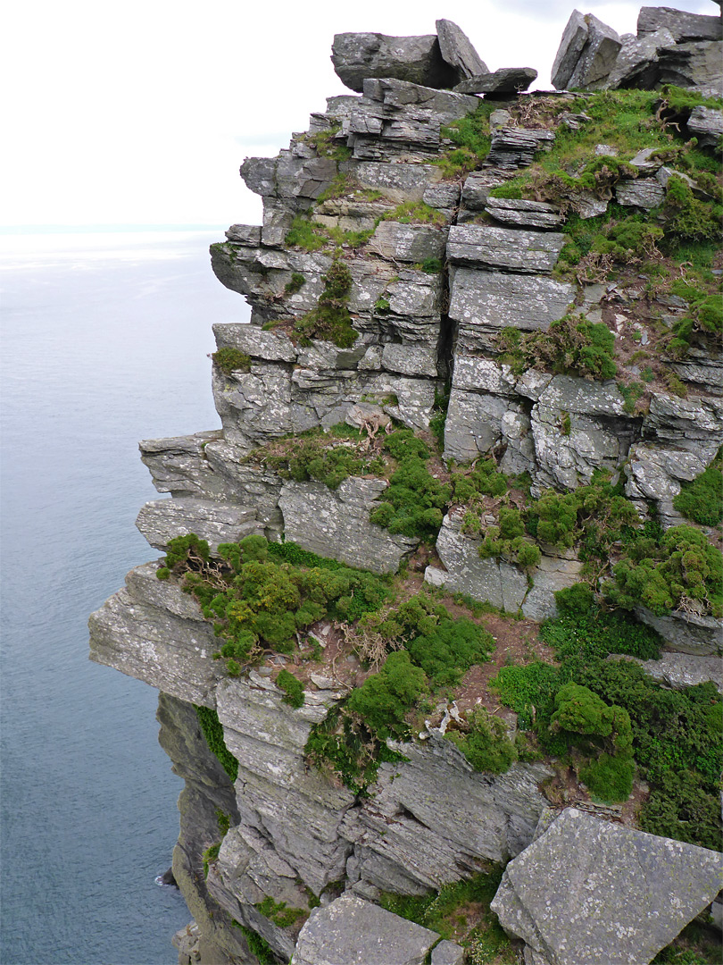 Layered cliff