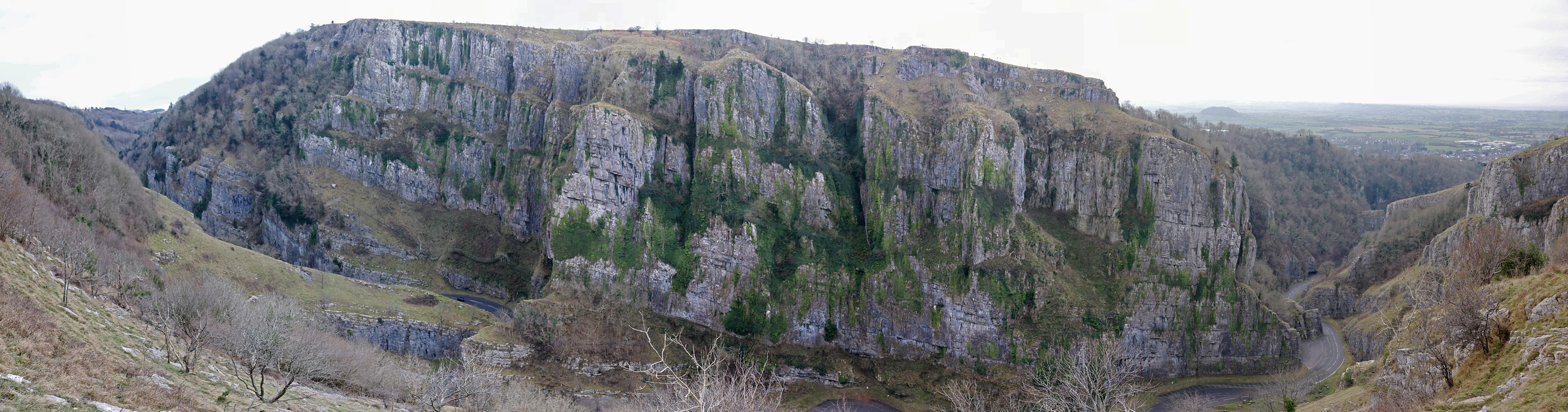 Cliffs on the south side of the gorge
