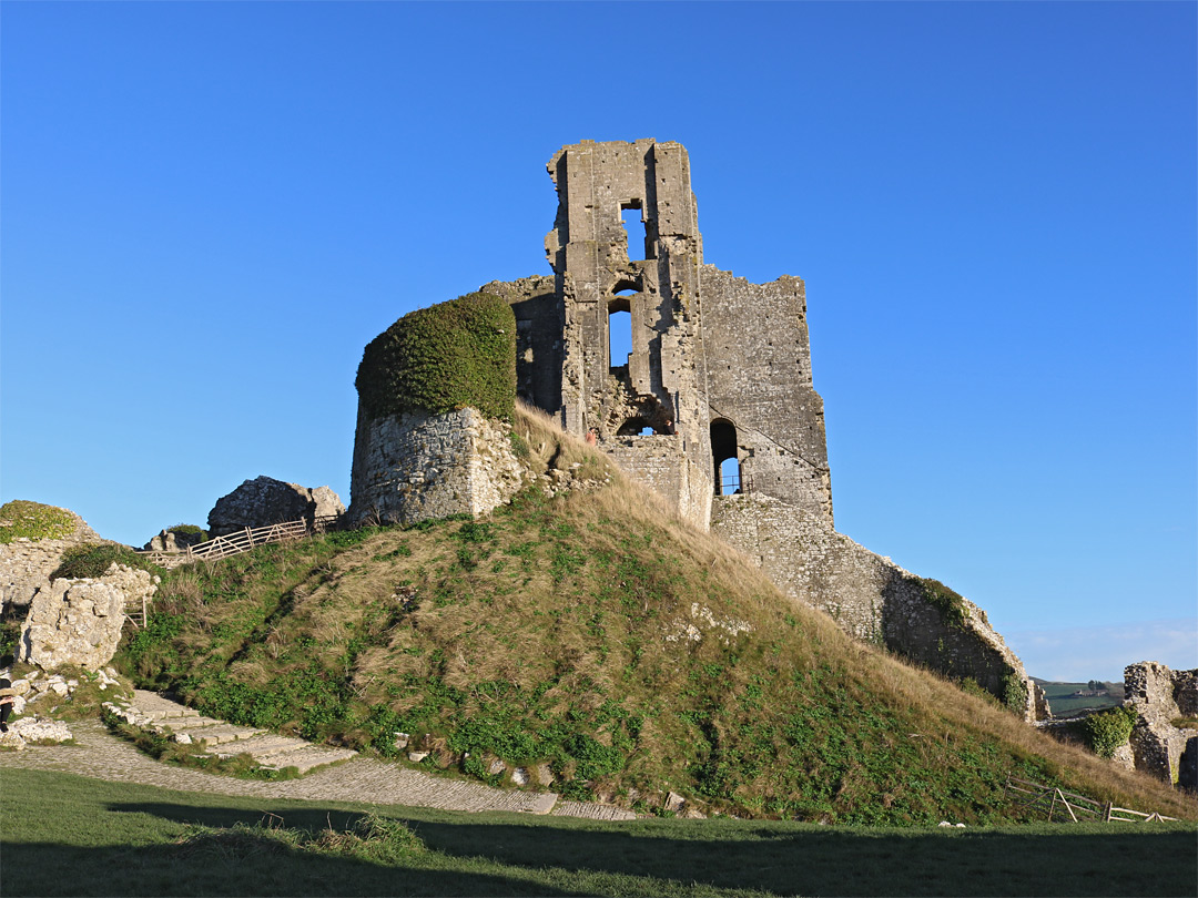 West side of the keep