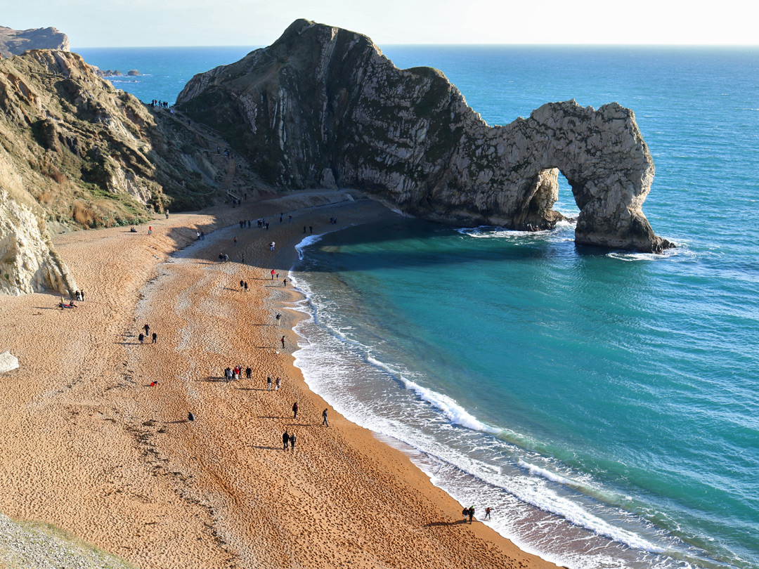 Beach west of Durdle Door