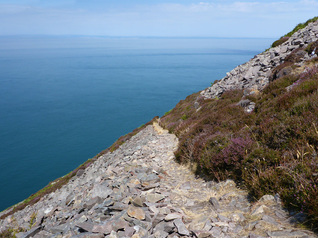 Path across scree