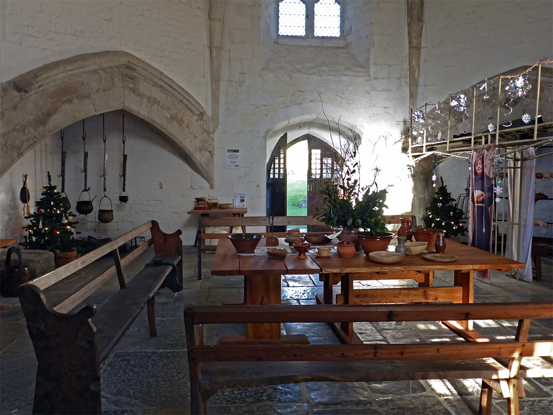 Inside the abbot's kitchen