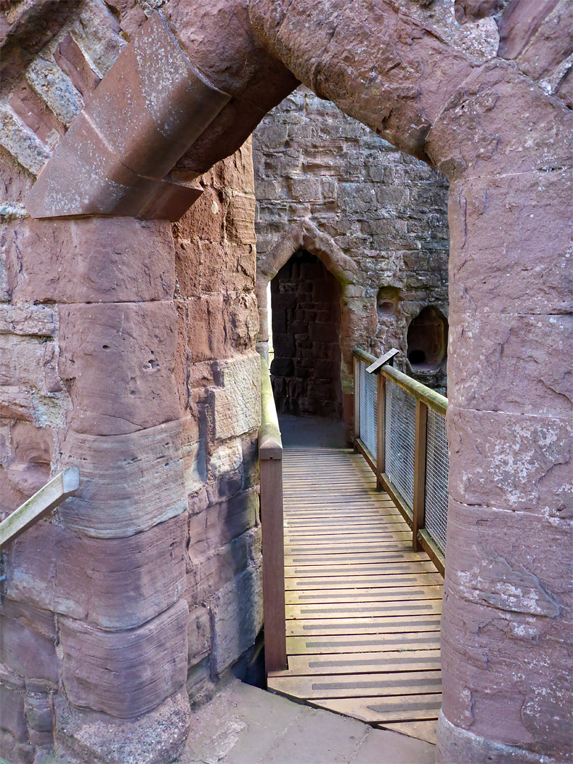 Passage to the southwest tower