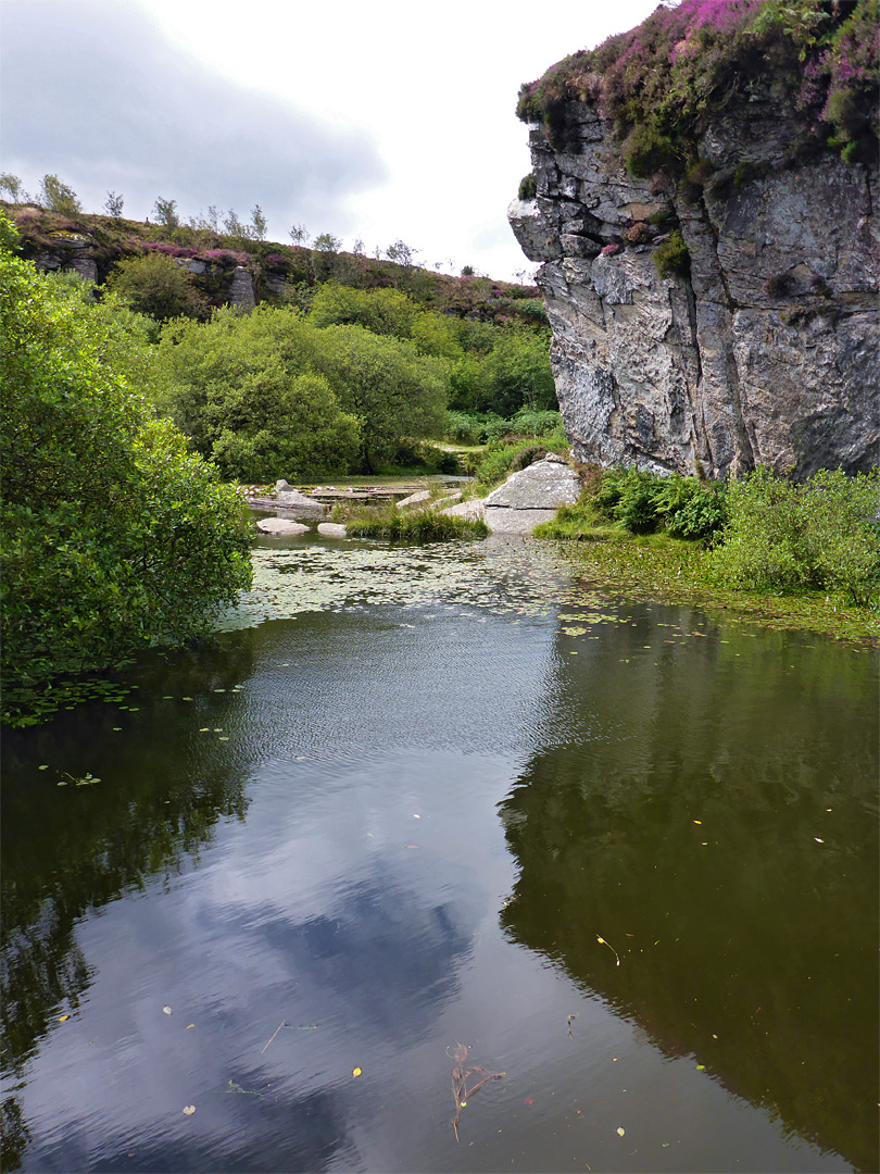 Cliff at the quarries