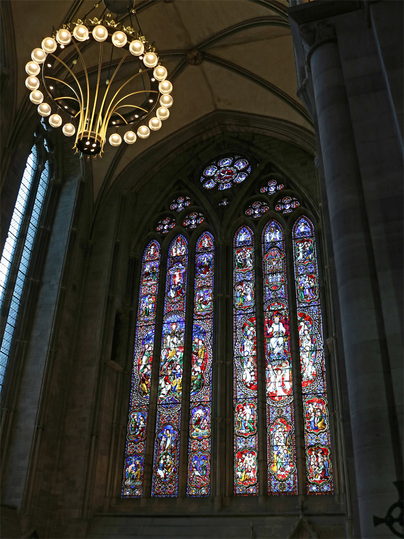 Window of the north transept