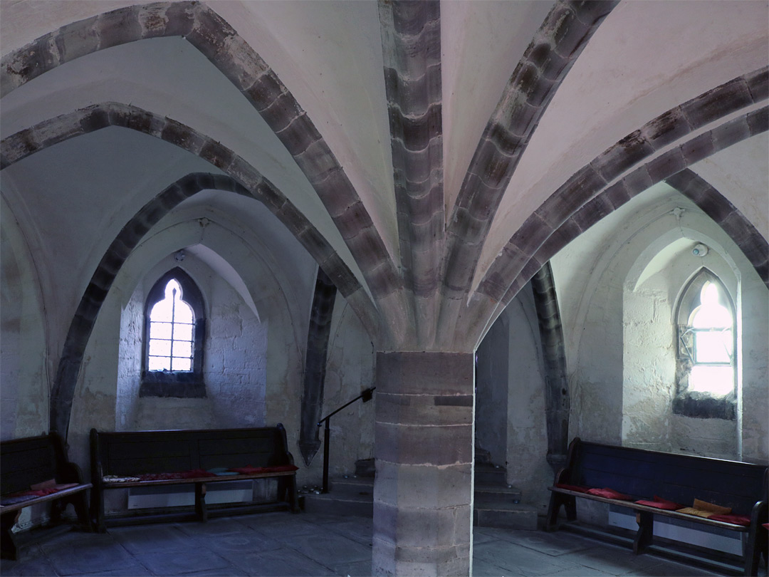 Vaulting in the crypt