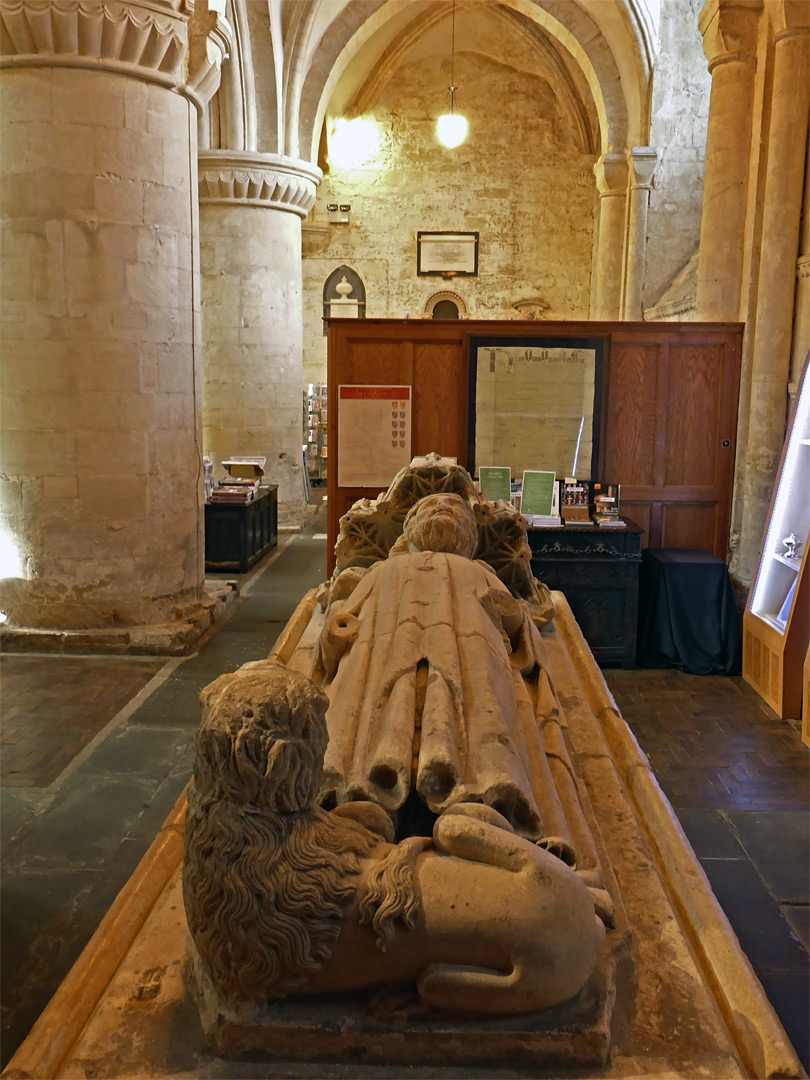 Photographs of Malmesbury Abbey, Wiltshire, England: Effigy of Athelstan