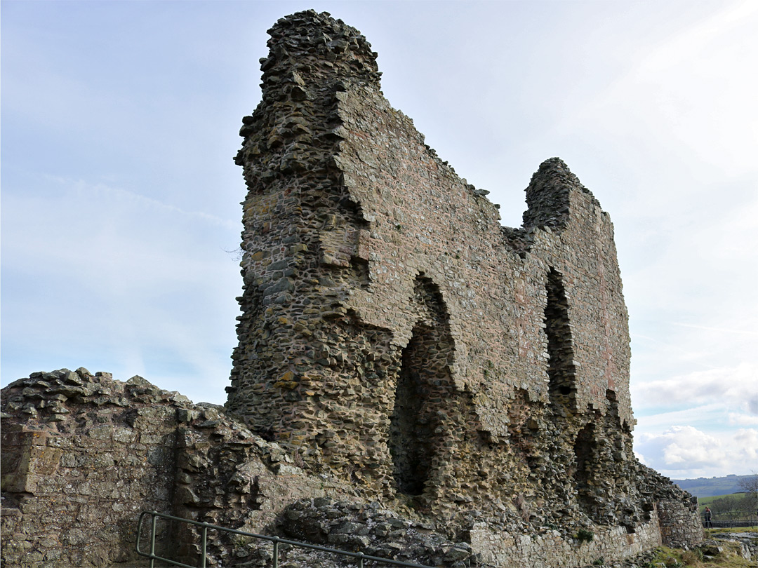 West gatehouse wall