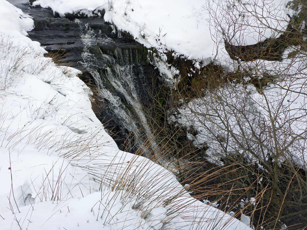 Snow-lined falls