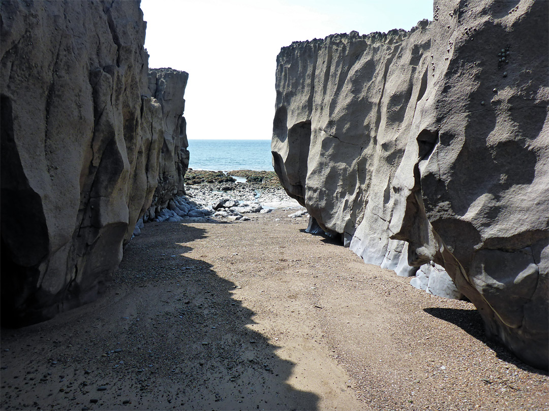 Narrow beach