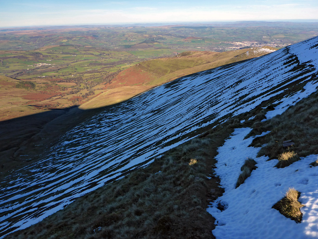 Snow west of Pen y Fan