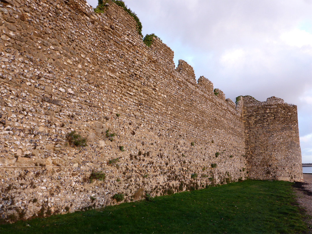 South wall of the fort