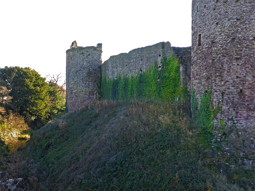 East wall of the castle