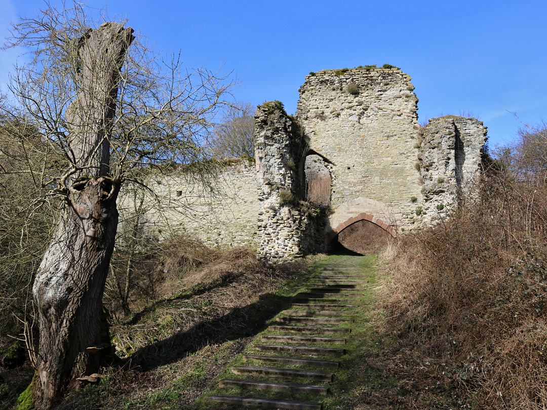 Steps to the gatehouse