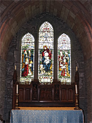 Window in St Lawrence chapel