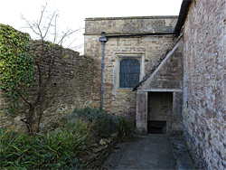 Entrance to the crypt