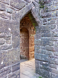 Doorways in the gatehouse