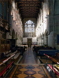 Crossing and nave
