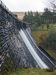 West side of the dam