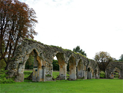 East cloister arches