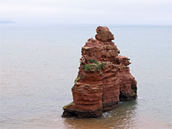 Hern Rock, from the coast path