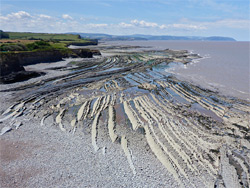Terraces at low tide