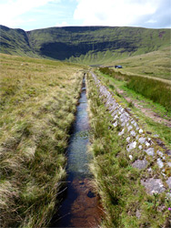 Aqueduct from Llyn y Fan Fach