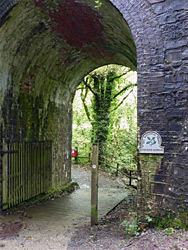 Path under a railway