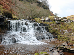 Cascade on the Nant Bwch