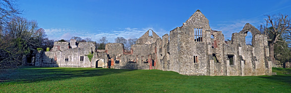 South side of the abbey buildings