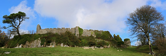 Panorama of the south side of the castle