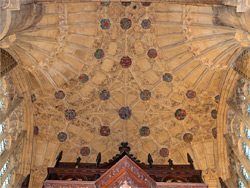 Ceiling of the north transept