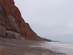 Beach west of Sidmouth