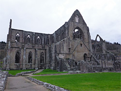 North side of the abbey