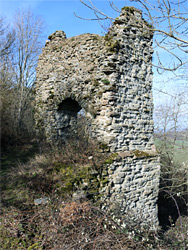 Walls of the northeast tower