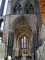 Lady chapel aisle