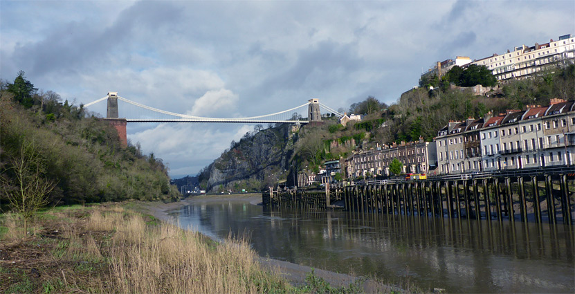 St Vincent's Terrace in Hotwells, and the Clifton Suspension Bridge
