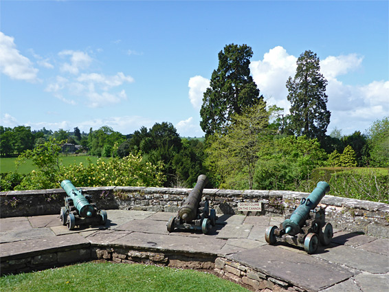 Three cannon