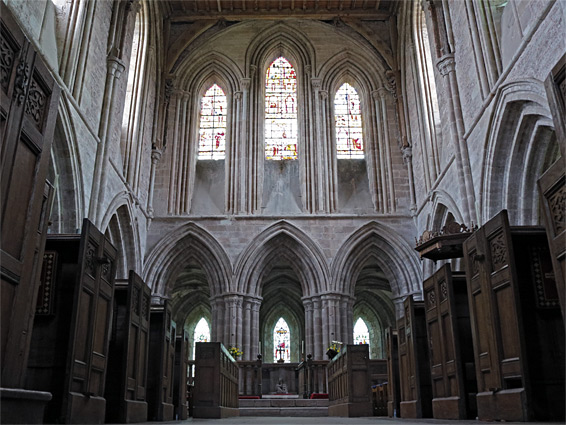 The presbytery, looking through to the ambulatory