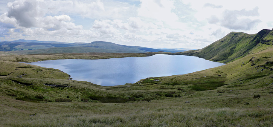 North shore of Llyn y Fan Fawr