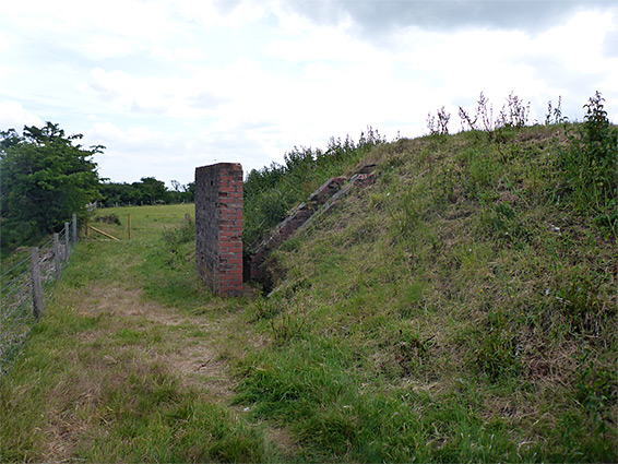 WW2 bunker, along the north edge of the reserve