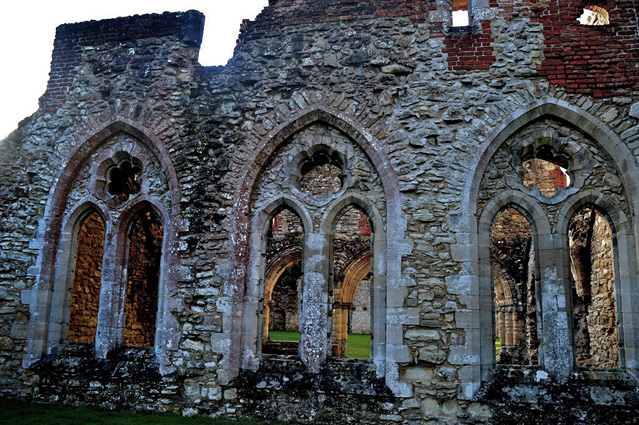 Netley Abbey - arches of the north transept