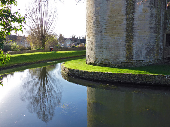 Calm water of the castle moat